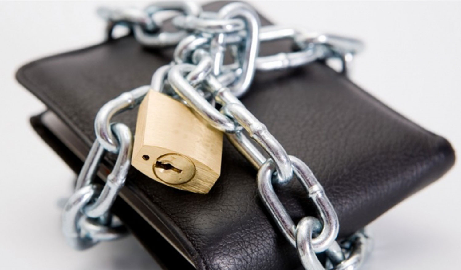Chained up wallet; tax relief means you avoid levies, garnishments and seizures.