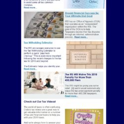 Crabb Tax Services Newsletter (October 2019)